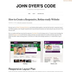 How to Create a Responsive, Retina-ready Website