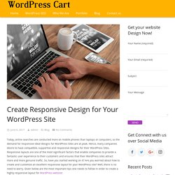 Create Responsive Design for Your WordPress Site