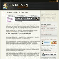 Create a REST API with PHP « Gen X Design