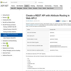 Create a REST API with Attribute Routing in Web API 2