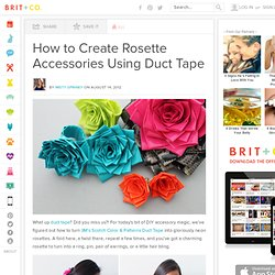 How to Create Rosette Accessories Using Duct Tape