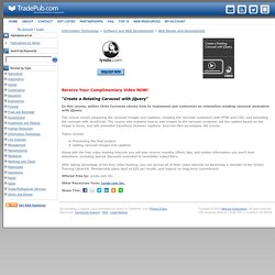 Create a Rotating Carousel with jQuery, Free Lynda.com Inc. Video