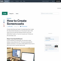 How to Create Great Screencasts