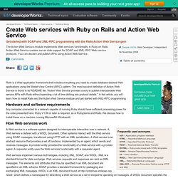 Create Web services with Ruby on Rails and Action Web Service