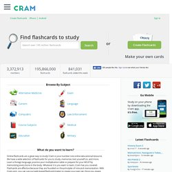 Cram.com: Create and Share Online Flashcards