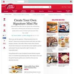 Create Your Own Signature Mini Pie