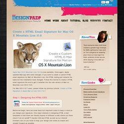 Create a HTML Email Signature for Mac OS X Mountain Lion 10.8