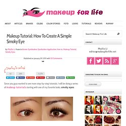 How to: Create Simple Smokey Eyes