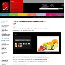 Create a Slideshow in Adobe Fireworks CS4