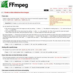 Create a video slideshow from images – FFmpeg