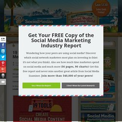 19 Tools to Create Social Media Content : Social Media Examiner