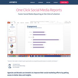 Create Social Media Reports Fast