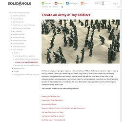 Create an Army of Toy Soldiers - Arnold for Maya Tutorials