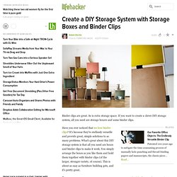 Create a DIY Storage System with Storage Boxes and Binder Clips