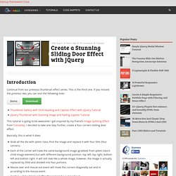 Create a Stunning Sliding Door Effect with jQuery