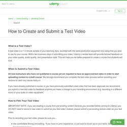 Uploading a Test Video – Udemy