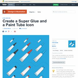 Create a Super Glue and a Paint Tube Icon