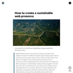 How to create a sustainable web presence