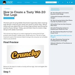 How to Create a Tasty Web 2.0 Text Logo