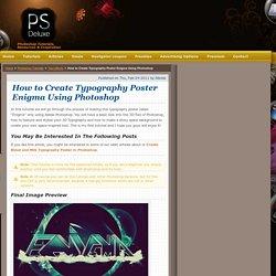 Create Enigma Typography Poster Using Photoshop