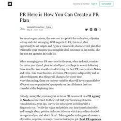 PR Here is How You Can Create a PR Plan - Vastada Consulting - Medium