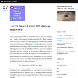 How To Create A Video SEO strategy That Works