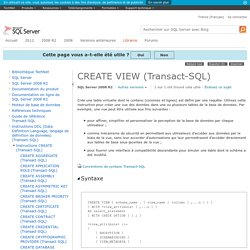 CREATE VIEW (Transact-SQL)