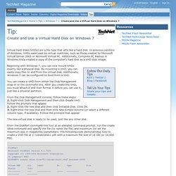Create and Use a Virtual Hard Disk on Windows 7