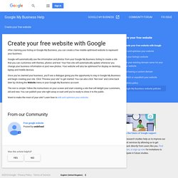 Create your free website with Google - Google My Business Help