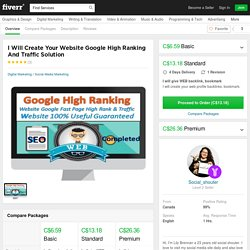 create your website google high rank