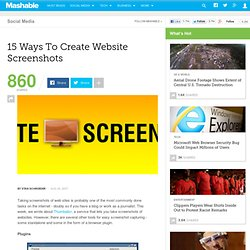 How to create website screenshots