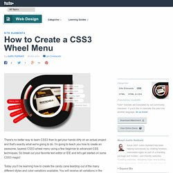 Create a CSS3 Wheel Menu