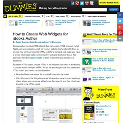 How to Create Web Widgets for iBooks Author