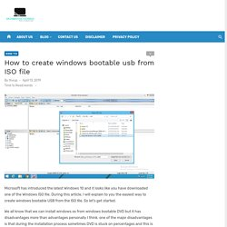 Searching for Create Windows Bootable USB From ISO File
