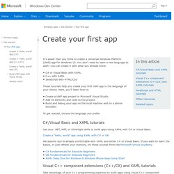 Create your first app - Windows app development