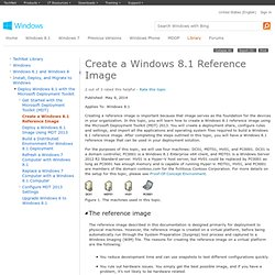 Create a Windows 8.1 Reference Image