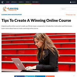 Tips To Create A Winning Online Course