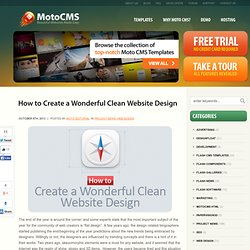 How to Create a Wonderful Clean Website Design - MotoCMS
