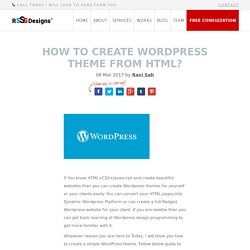 How to Create WordPress theme from HTML?