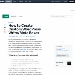 How to Create Custom WordPress Write/Meta Boxes