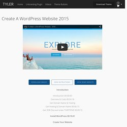 Create a WordPress Website 2015