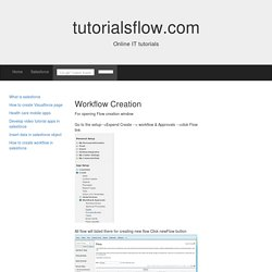 Create workflow in salesforce