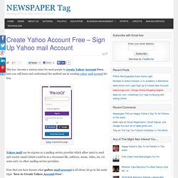 Create Yahoo Account Free - Sign Up Yahoo mail Account