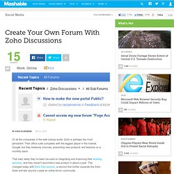 Create Your Own Forum With Zoho Discussions