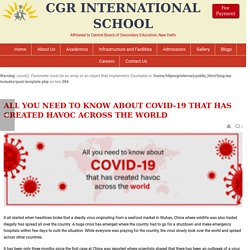 All you need to know about COVID-19 that has created havoc across the world