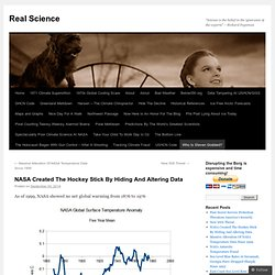 NASA Created The Hockey Stick By Hiding And Altering Data