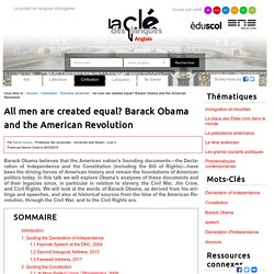 All men are created equal? Barack Obama and the American Revolution