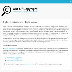Rights created during Digitisation