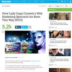 How Lady Gaga Created a Web Marketing Spectacle for Born This Way [PICS]