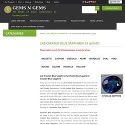 Buy Lab Created Blue Sapphire